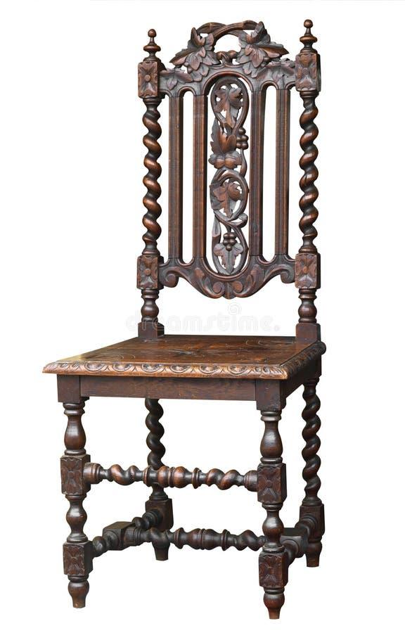 utsmyckad antik stol arkivfoto