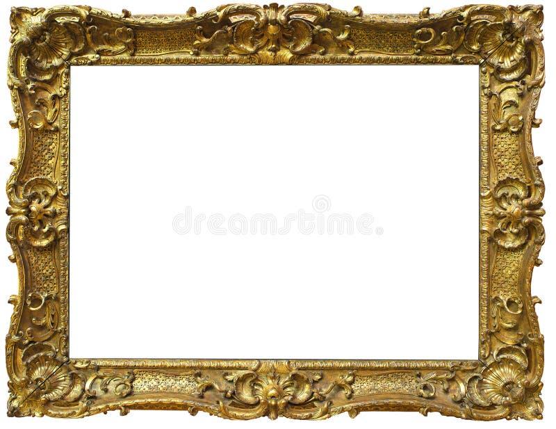 Utsmyckad barock guld- ram royaltyfri foto