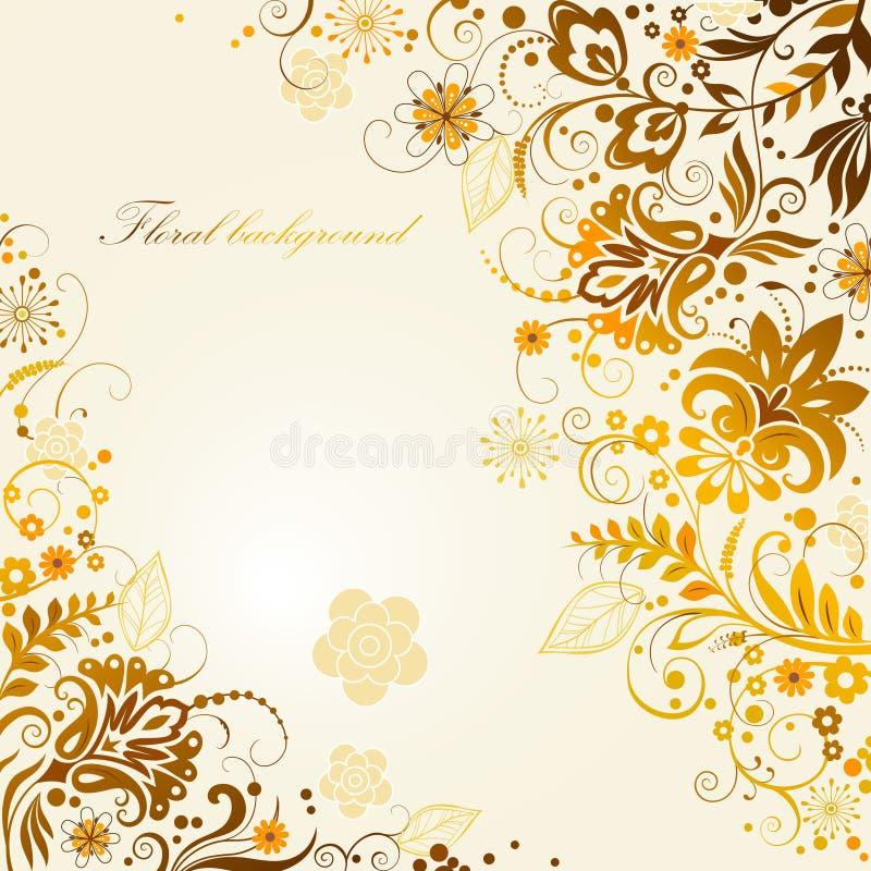 Utsmyckad blom- bakgrund vektor illustrationer