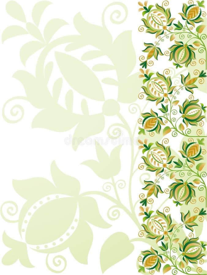utsmyckad designblommagreen vektor illustrationer