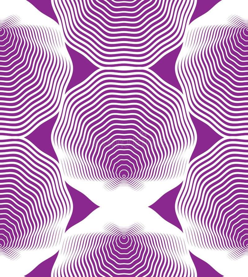 Utsmyckad färgrik abstrakt bakgrund med vita linjer Sym royaltyfri illustrationer