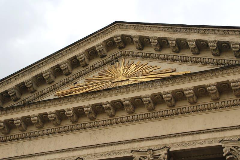 Utsmyckad fasad av det Kazan domkyrkafragmentet royaltyfri fotografi