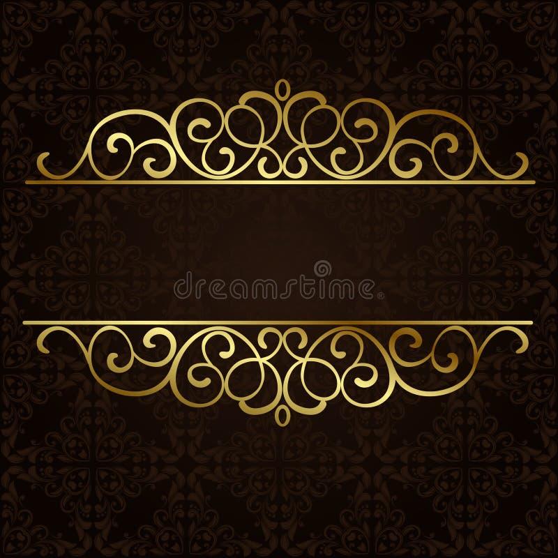 Utsmyckad guld- gräns för vektor royaltyfri illustrationer