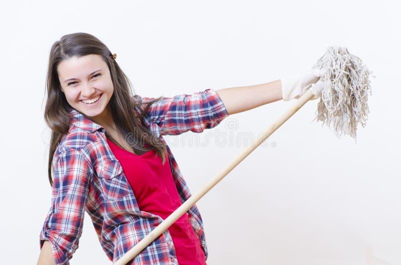 Utsmyckad hushållerska arkivfoto