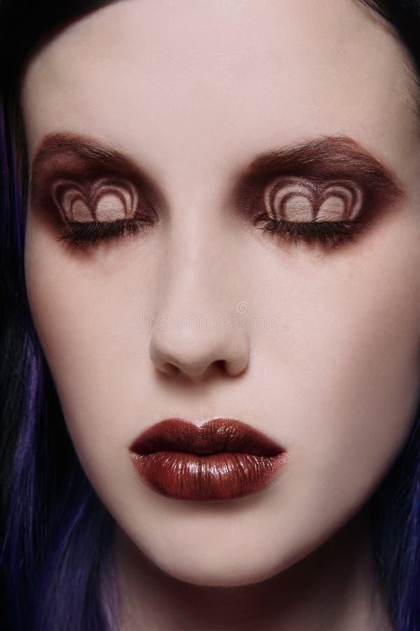 utsmyckad makeup arkivfoto