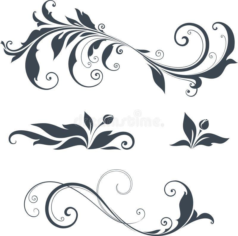 Utsmyckad motivdesign royaltyfri illustrationer