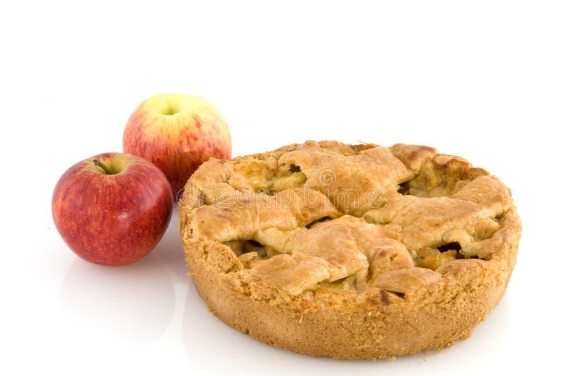 utsmyckad pie för äpple arkivfoton