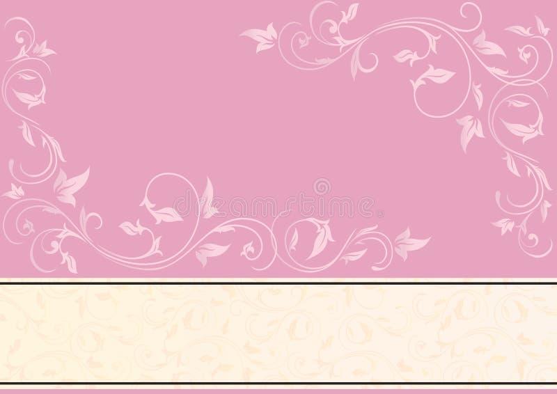 utsmyckad pink för bakgrundselement stock illustrationer