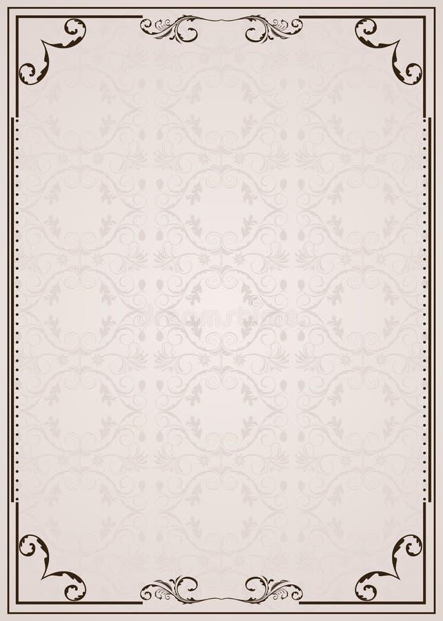 utsmyckad ram royaltyfri illustrationer
