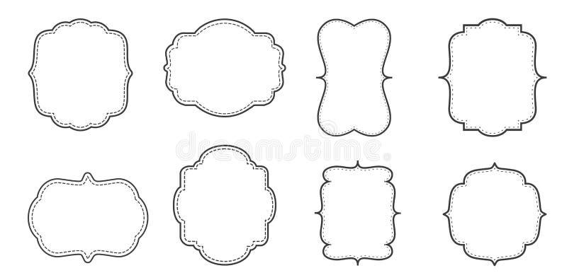 Utsmyckad sidagränsuppsättning royaltyfri illustrationer