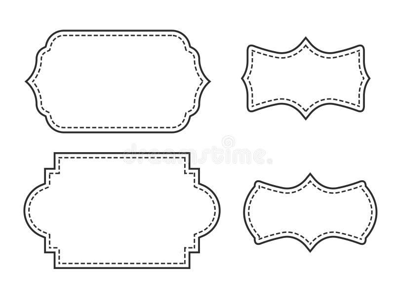 Utsmyckad sidagränsuppsättning i vit royaltyfri illustrationer