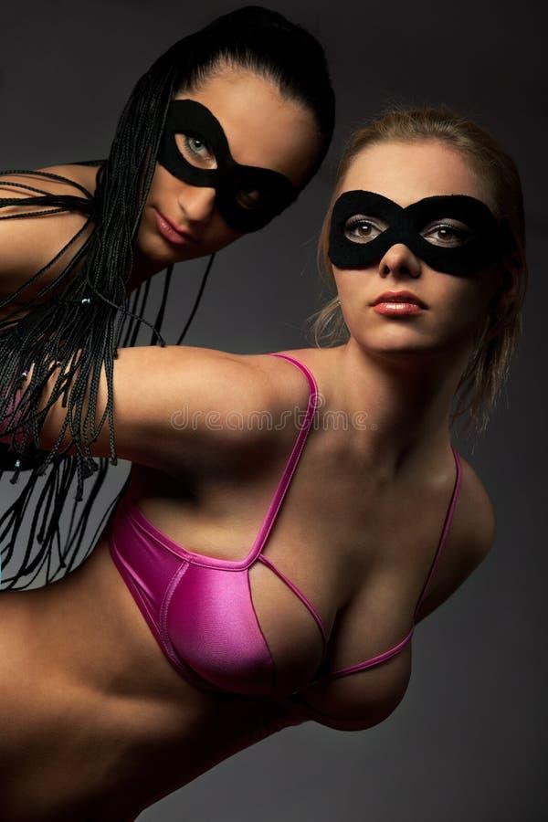utsmyckade maskeringskvinnor royaltyfria bilder