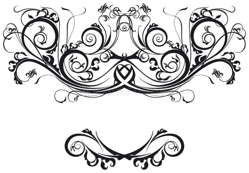 utsmyckade scrolls stock illustrationer