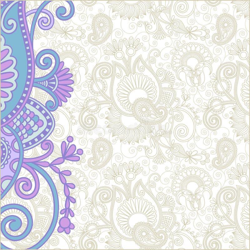 utsmyckat meddelandekort royaltyfri illustrationer