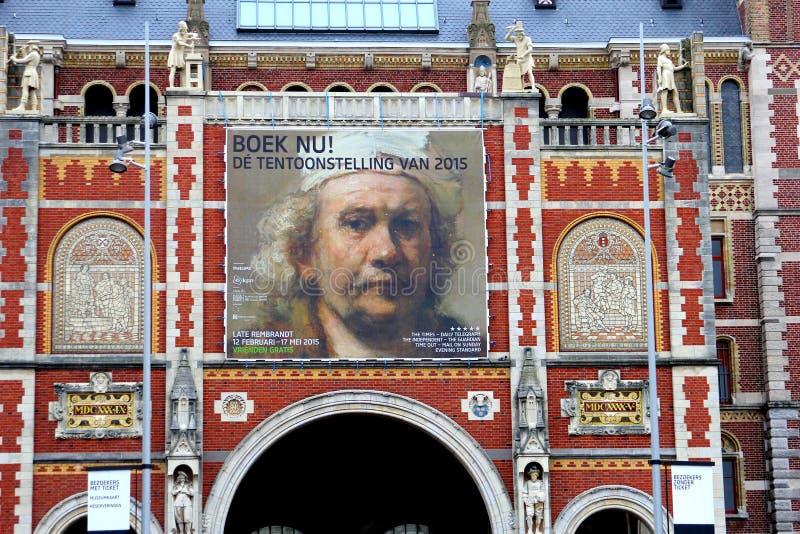 Utställning av Rembrandt Van Rijn i Rijksmuseumen, Amsterdam, Nederländerna royaltyfria bilder