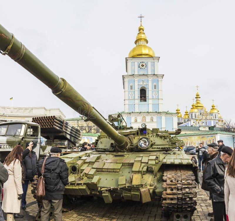 Utställning av ryska vapen i Kiev royaltyfri fotografi