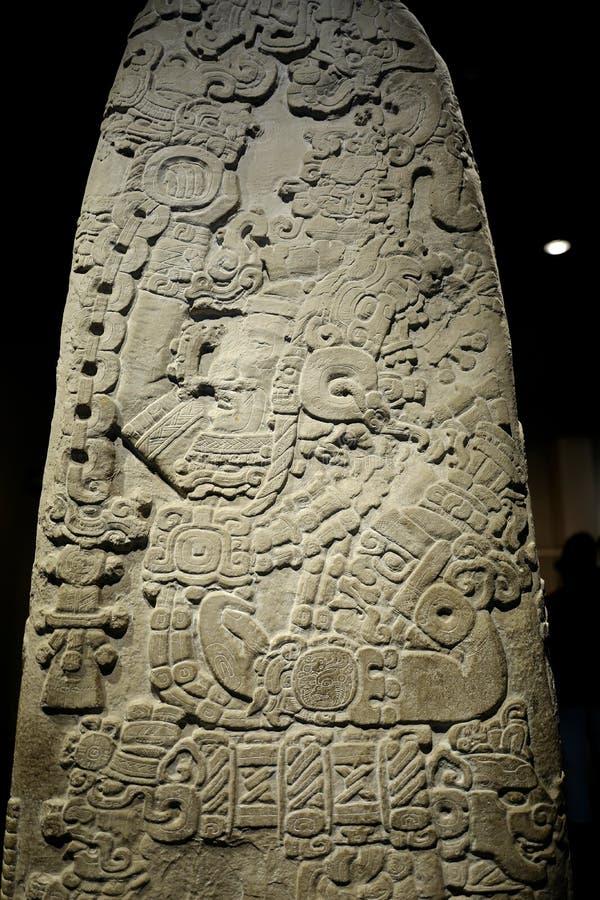 Utställningar i det nationella museet av antropologi, Mexico - stad royaltyfri bild