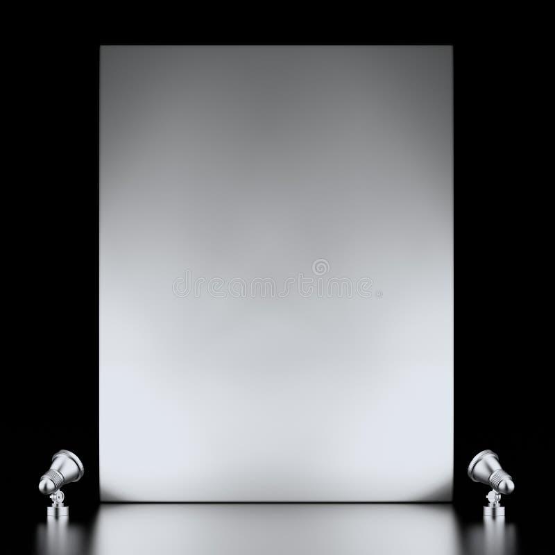 Utställningställning Och Lampor Arkivfoto