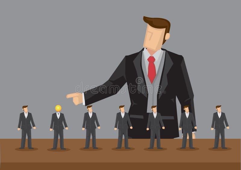 Utstående illustration för anställdvektortecknad film stock illustrationer