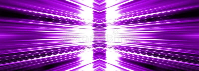 Utstråla vitt ljus som brists på purpurfärgat baner vektor illustrationer