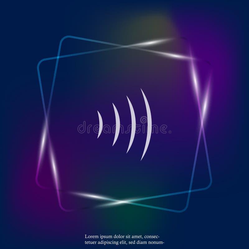 Utstrålning för radiovåg royaltyfri illustrationer