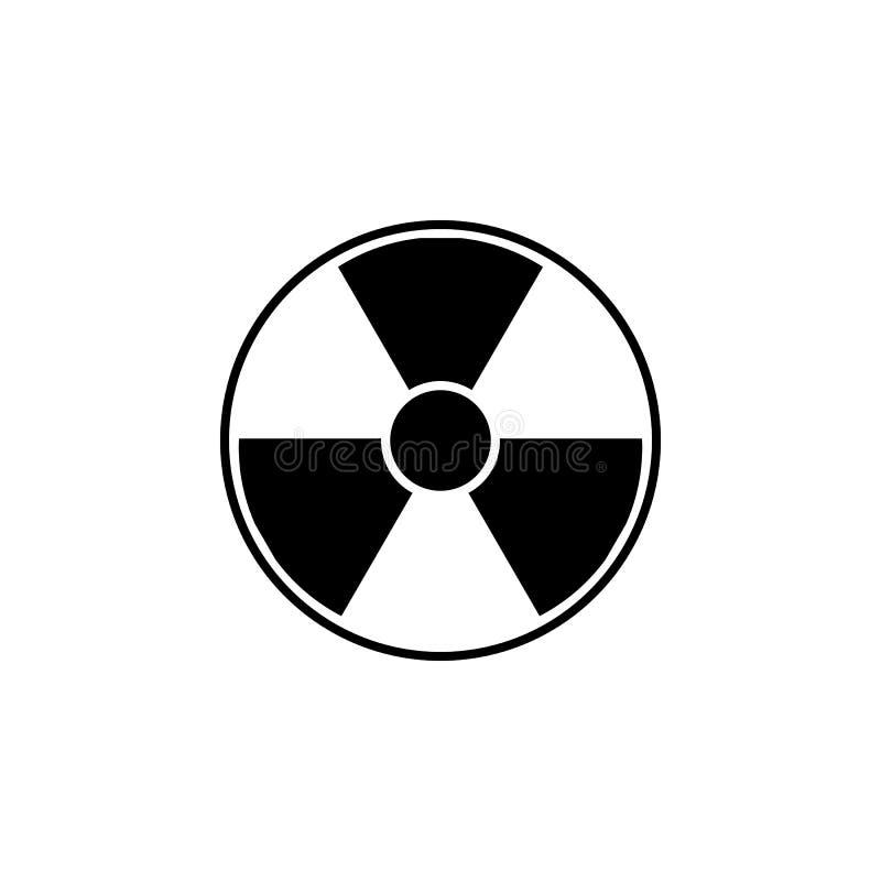 Utstrålningssymbol Faravektorsymbol vektor illustrationer