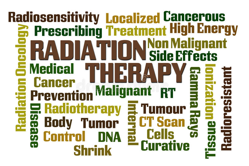 Utstrålningsterapi stock illustrationer