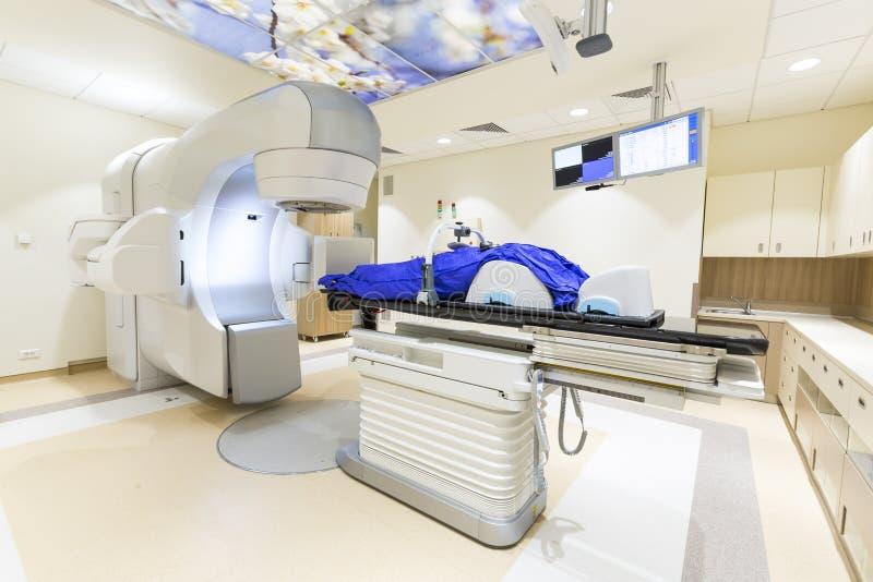 Utstrålningsterapi för cancer arkivbild
