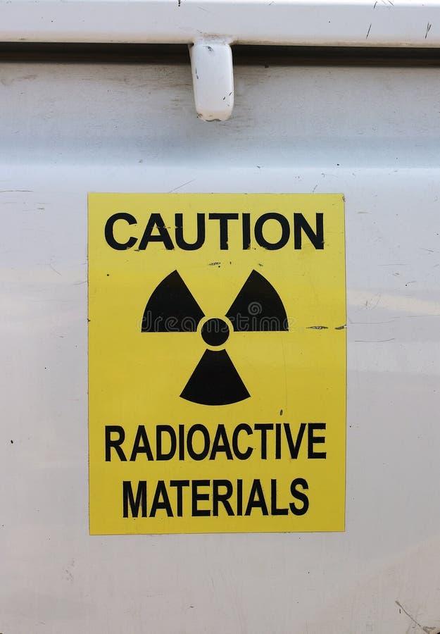 utstrålningsvarning arkivfoto