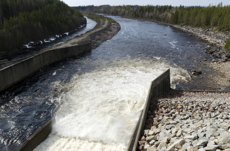Uttag för vattenkraftväxt arkivfoton