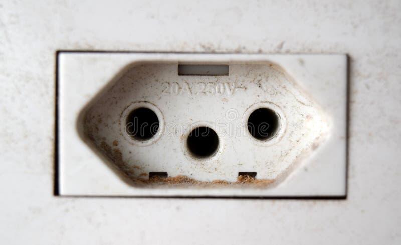 Uttag för volt 10A-250V arkivfoton