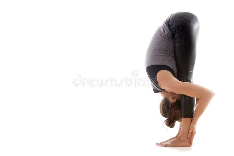 Uttanasana de pose de yoga images libres de droits