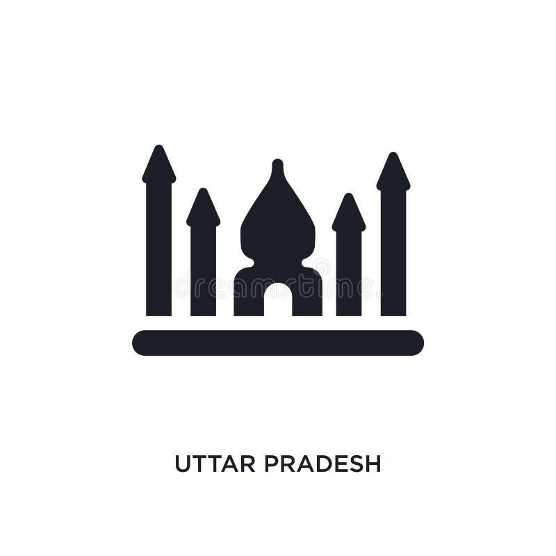 Uttar Pradesh geïsoleerd pictogram eenvoudige elementenillustratie van het conceptenpictogrammen van India van het het embleemtek stock illustratie
