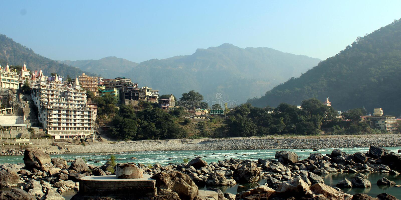 Uttarakhand de Rishikesah images libres de droits