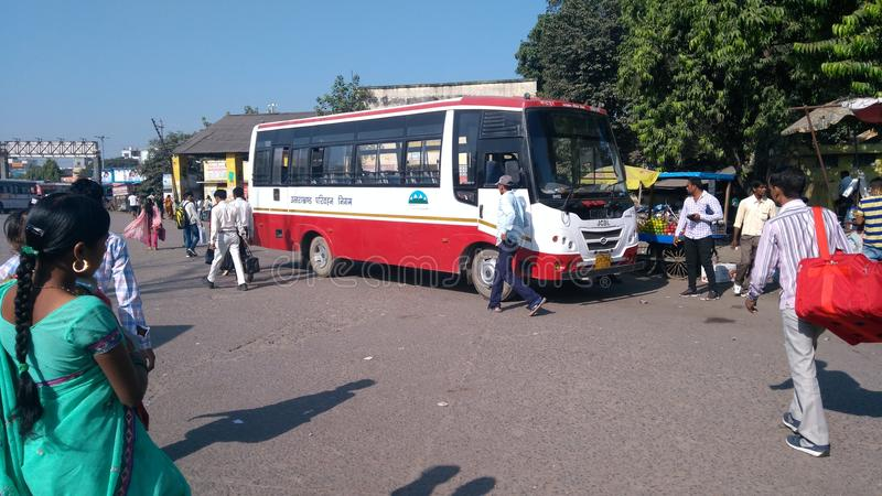 Uttarakhand parivahan new bus stock image
