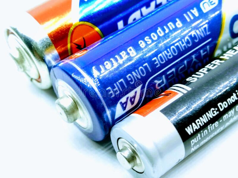 Utter Pardesh / India - Electrical Battery , A image of Battery in noida june 18 2019 royaltyfria foton