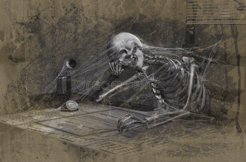 uttråkad död till stock illustrationer