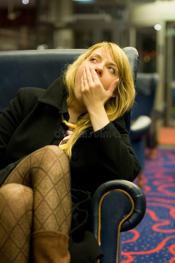 uttråkad kvinna 2 royaltyfri bild