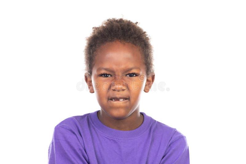 Uttråkat afrikanskt barn arkivbilder