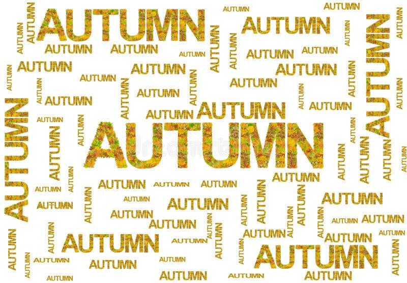 Uttrycka hösten som göras av isolerade sidor på vit stock illustrationer