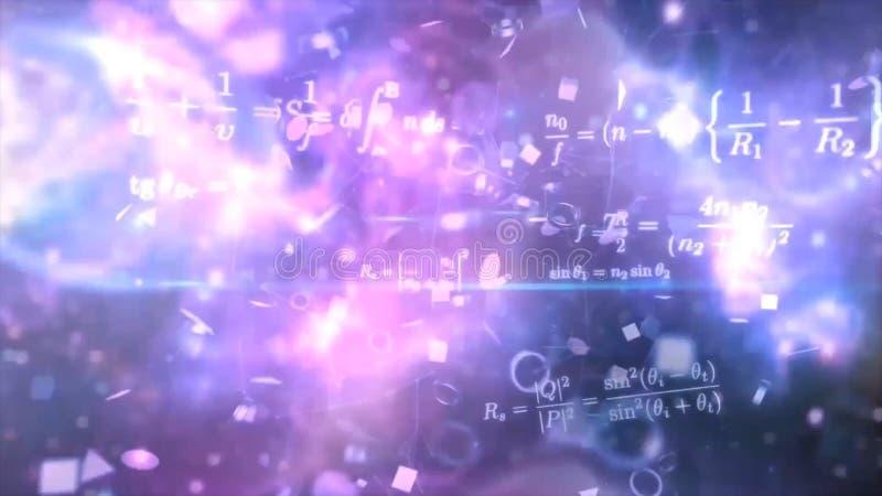 Uttrycker elektricitet, magnetism, optik Abstrakta bakgrunder, den abstrakta matrisen gillar bakgrund Stjärnafält i djupt utrymme arkivfoton