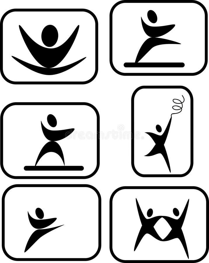 uttrycksfull pictogram för konster royaltyfri illustrationer
