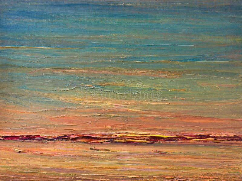 Uttrycksfull solnedgång över floden arkivbild