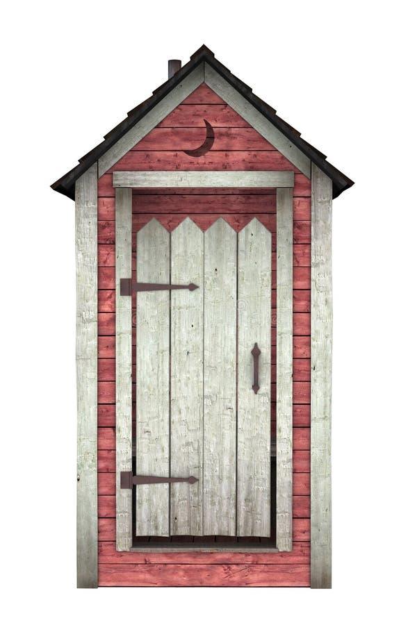 utvändig toalett vektor illustrationer