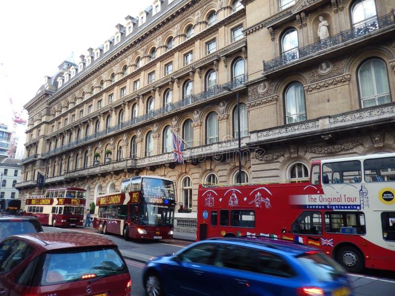 Utvändigt victoria hotell i London - UK fotografering för bildbyråer