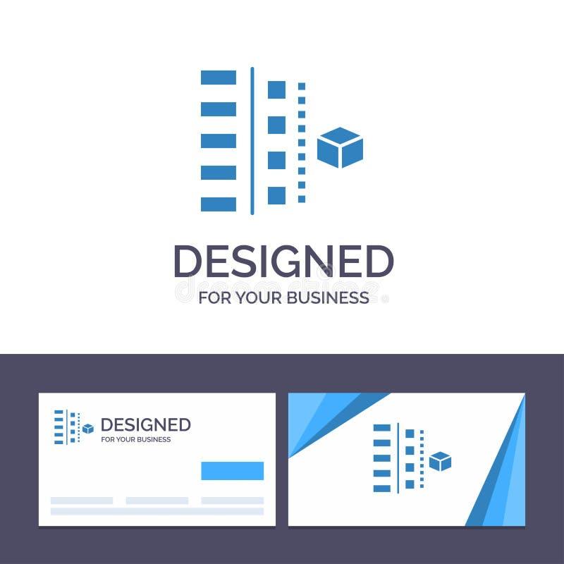 Utveckling för idérik mall för affärskort och logo, faser, plan, planläggning, produktvektorillustration royaltyfri illustrationer