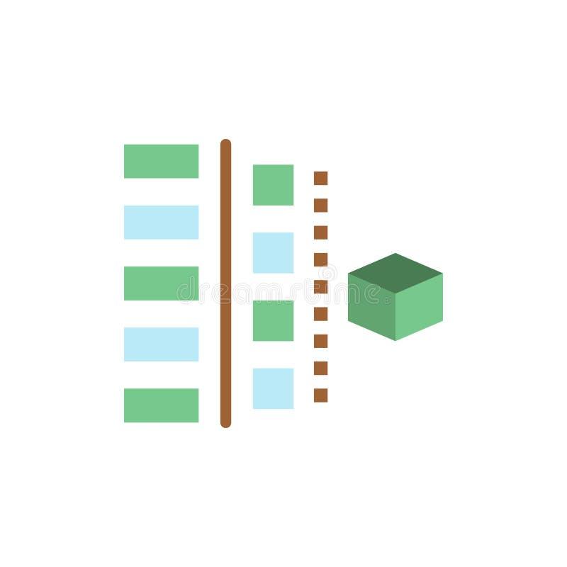 Utveckling faser, plan, planläggning, plan färgsymbol för produkt Mall för vektorsymbolsbaner stock illustrationer