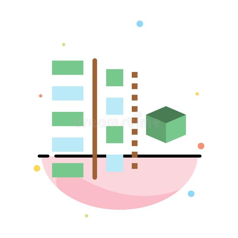 Utveckling faser, plan, planläggning, för färgsymbol för produkt abstrakt plan mall stock illustrationer