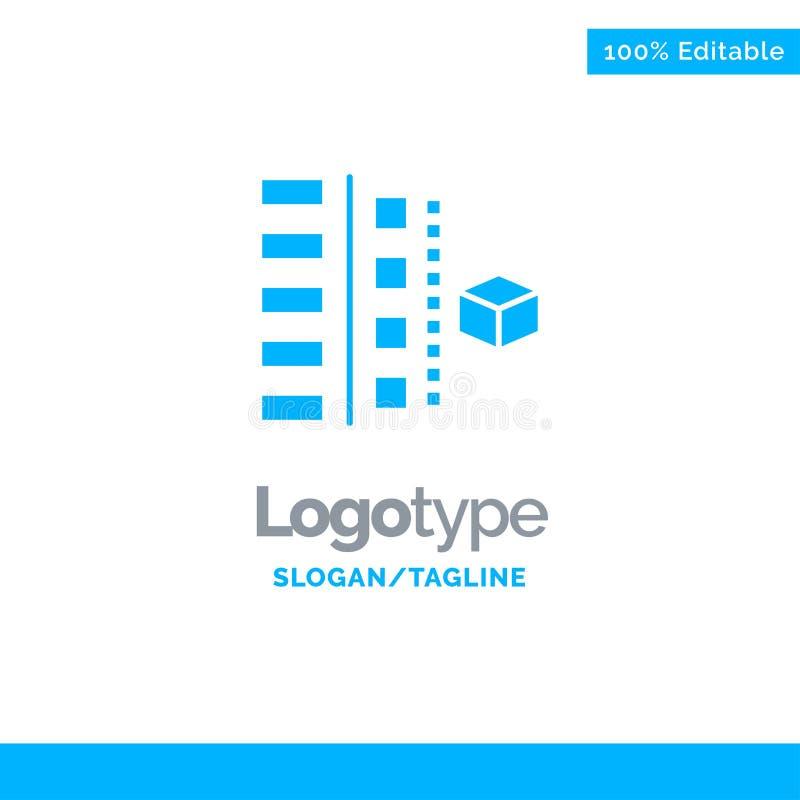 Utveckling faser, plan, planläggning, produkt blåa fasta Logo Template St?lle f?r Tagline stock illustrationer