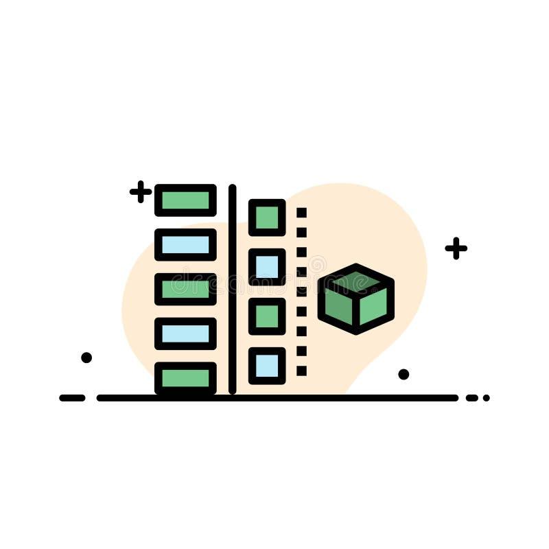 Utveckling faser, planet, planläggningen, plan linje för produktaffär fyllde mallen för symbolsvektorbanret stock illustrationer